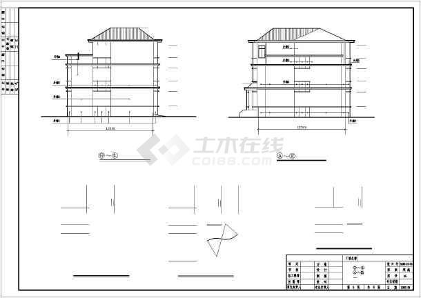 三层砖混结构独栋别墅建筑,结构,电气施工图