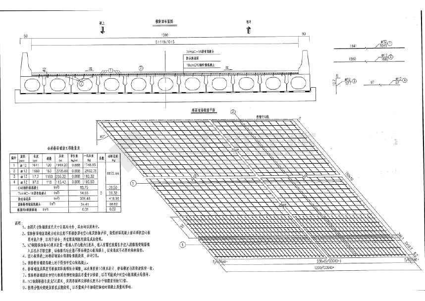 桥梁上构为16m预应力混凝土空心板,下构为柱式墩,桩接盖梁桥台,全长