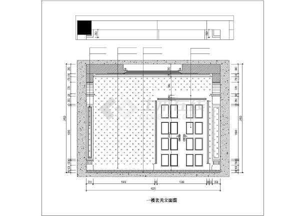 【江苏】简约法式古典奢华温馨独栋别墅室内装修施工cad图(附效果图)图片