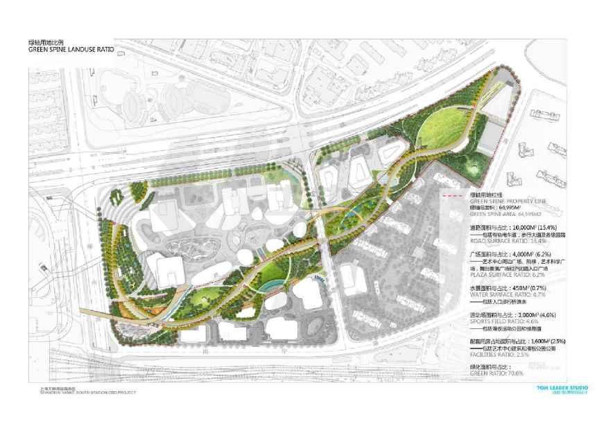 【上海】车站绿轴大道景观设计方案(知名设计)