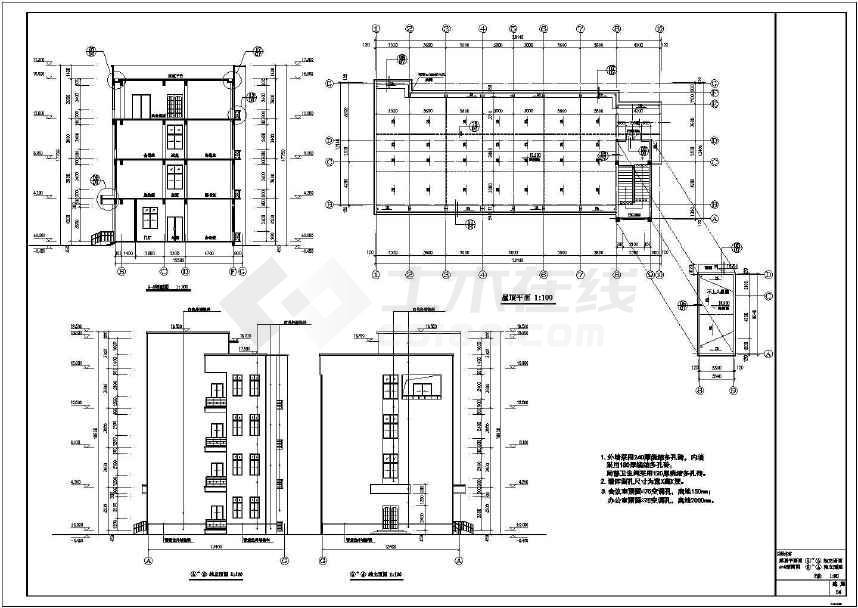 某多层框架结构办公用房建筑施工图