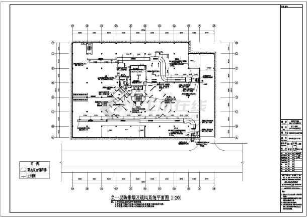 某暖通楼盘车库施工图(幼儿园、住宅楼、术语装饰装修cad图纸全套图片