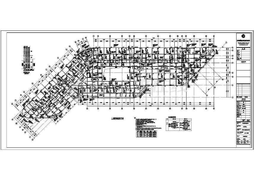 某14层框架剪力墙结构五星级酒店结构图(含建筑图 效果图)