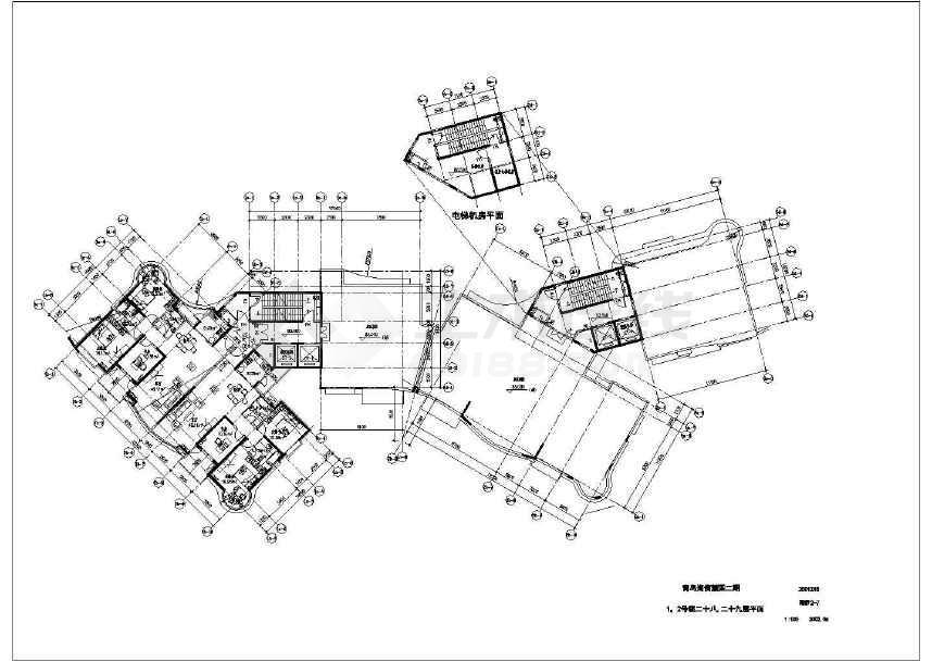 【青岛】某住宅小区规划及单体设计扩初图