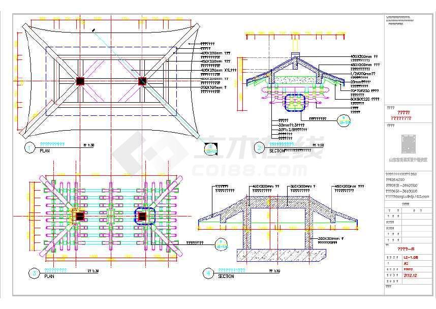 含平立剖面,含结构图纸,含斗拱细部图等.
