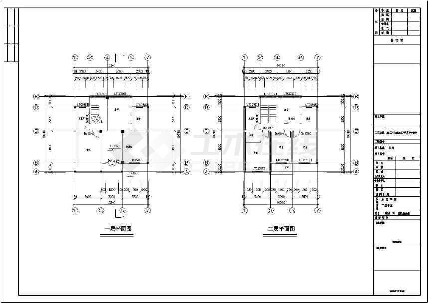 3层新农村独栋别墅建筑、结构施工图-图1