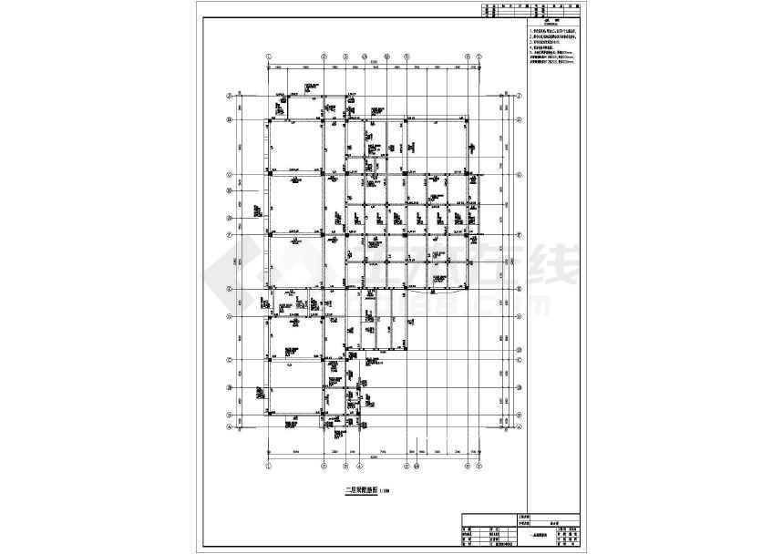 四层现浇框架小学综合楼结构设计施工图