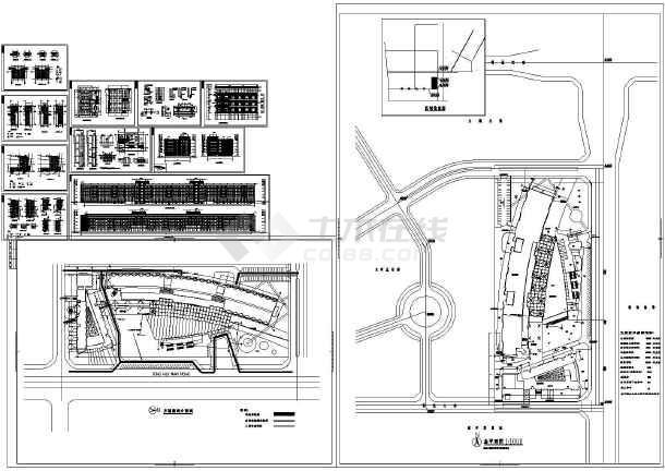 【西安】五层水晶岛酒店式办公楼施工图
