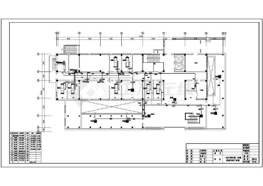 三,空调系统:     室外机共七组,集中摆放于主楼十八层与基础二图片