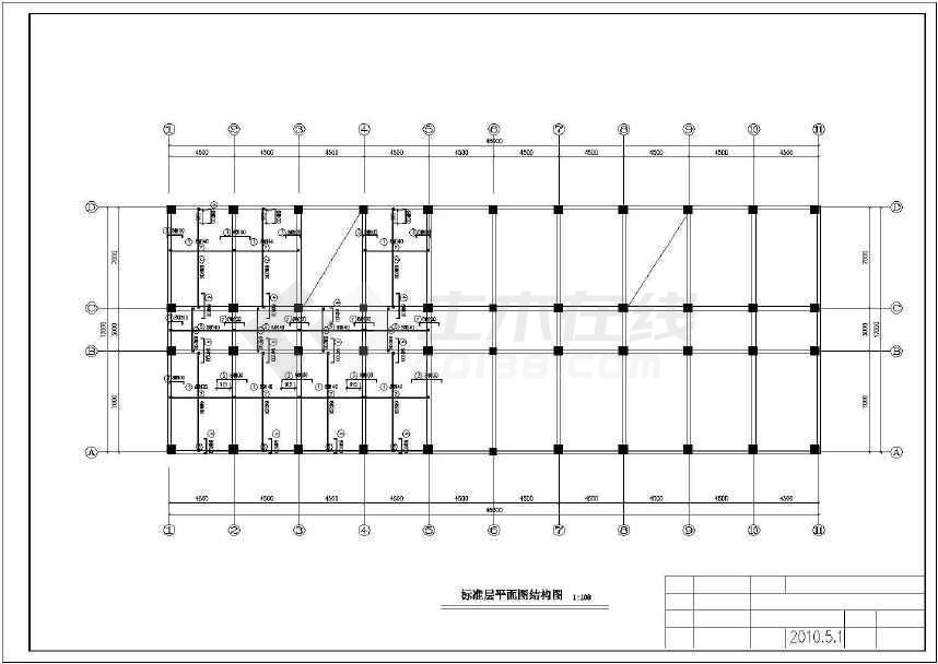 六层框架结构宾馆毕业设计(含建筑图,结构图,计算书)