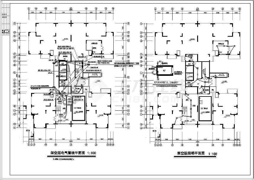 某17层高层住宅电气全套设计施工图
