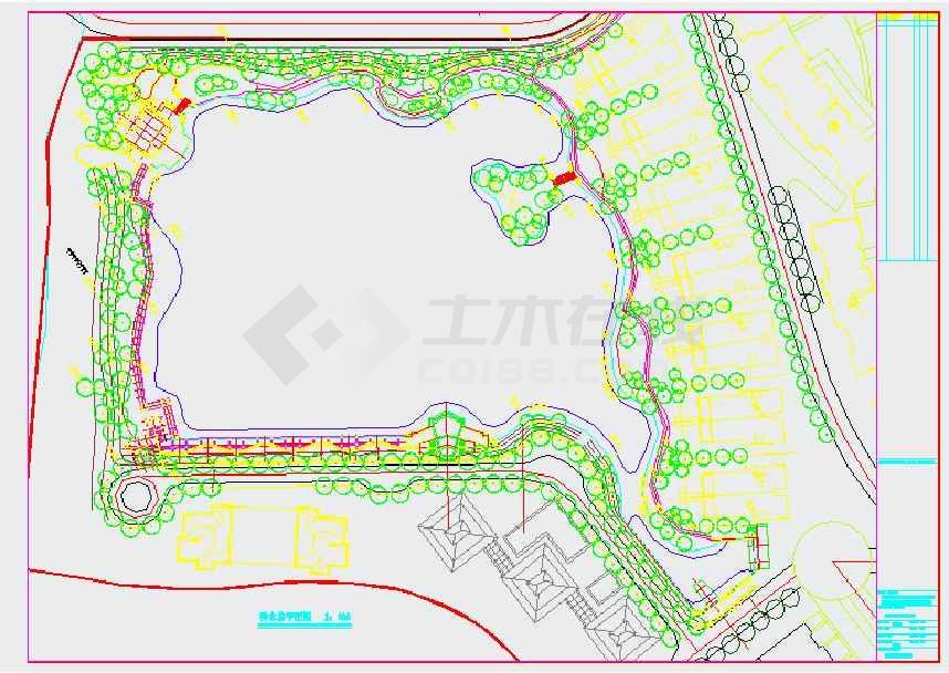 图纸 园林设计图  景观规划设计  居住区景观规划设计图(景观规划)