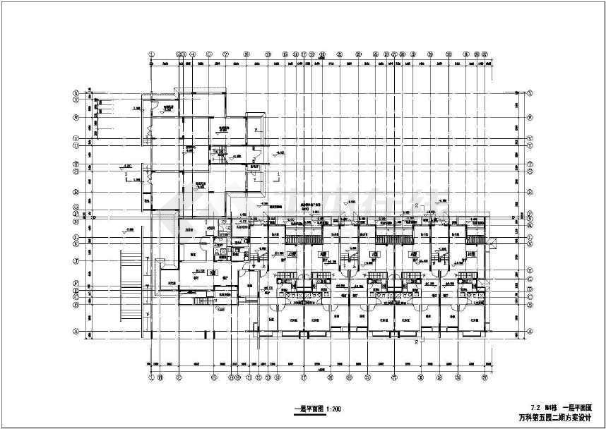 【深圳】万科城第五园二期建筑施工设计图