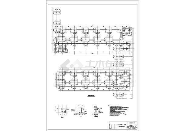 质保图纸 结构设计施工图 框架结构施工图 幼儿园/教学楼 四层框架