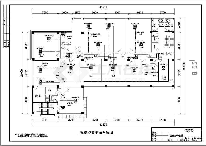 某6层实验室空调通风设计施工图纸图片