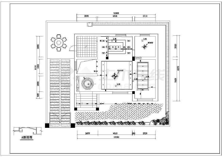 名仕御园复式楼室内家居装修设计图