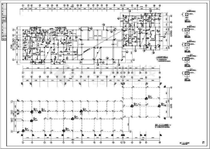 某底框结构小区住宅楼结构设计施工图