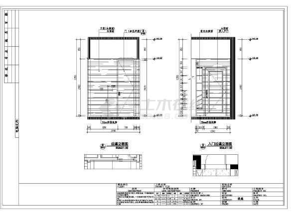 现代简约风格两室两厅室内装修施工图(附效果图)