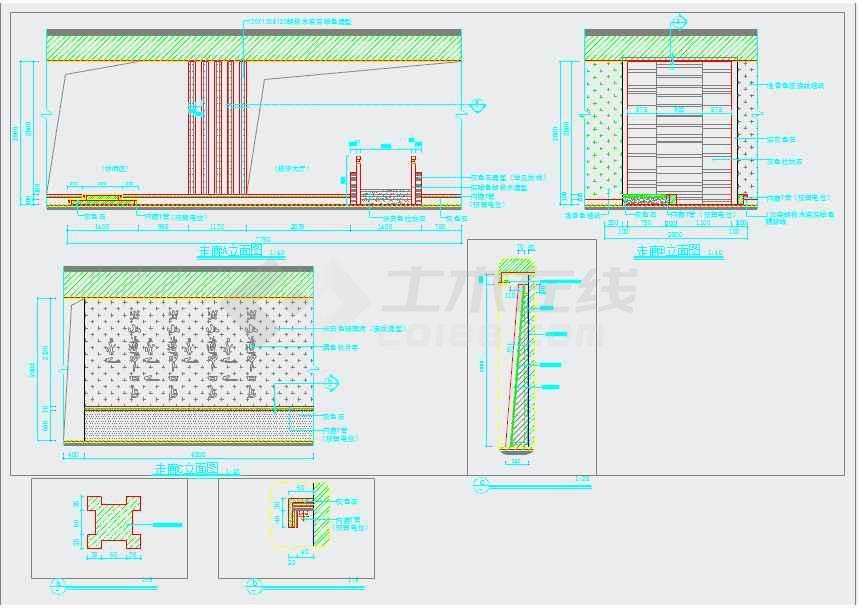 养生新中式风格会所室内装修施工图(附效果)   图纸包含了目录,材料表