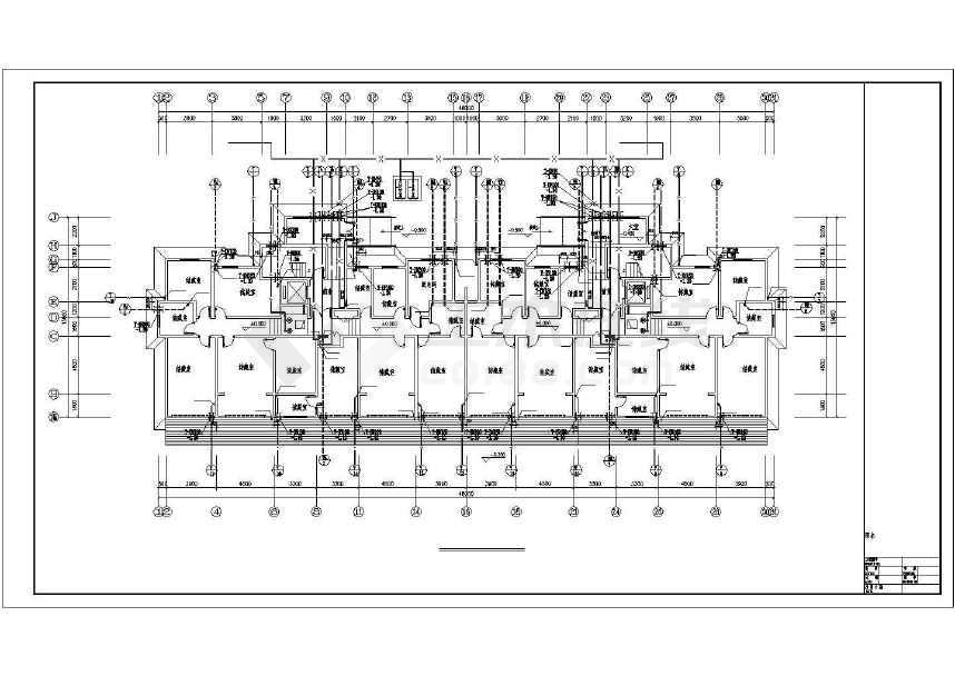 青岛某二类高层住宅楼给排水设计图