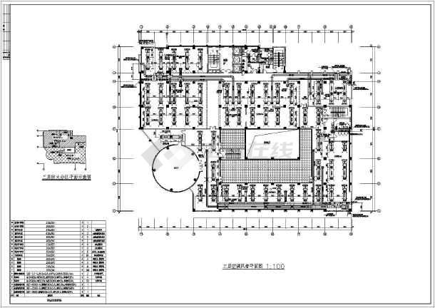 18层高层办公楼建筑空调通风防排烟系统设计施工图