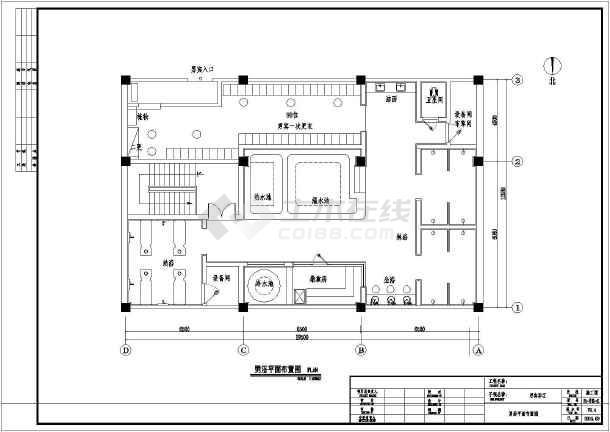 欧式豪华休闲洗浴中心室内施工图(含效果图)