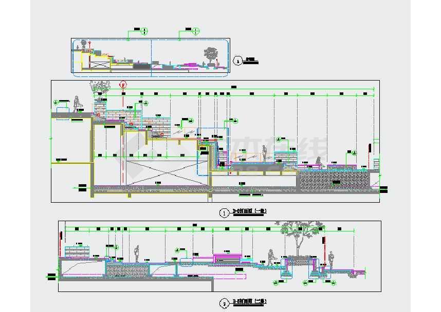 区景观规划设计施工图下载 土木在线