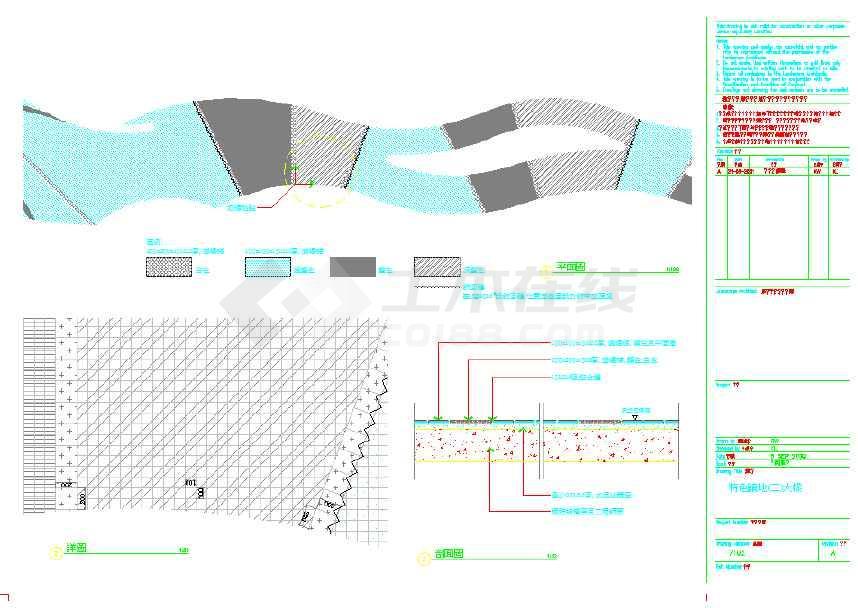 图纸 园林设计图  道路地面铺装(道路cad图下载)  道路及园路(道路