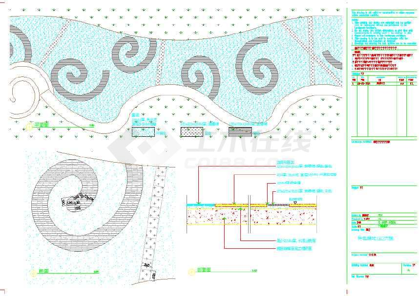 某地城市道路园林景观规划设计施工图