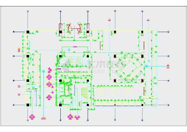 前厅与电梯厅立面图,卫生间立面图,销售室与监控室立面图,海鲜池与