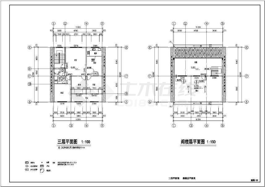 某4层砌体结构民房建筑,结构施工图下载-土木在线