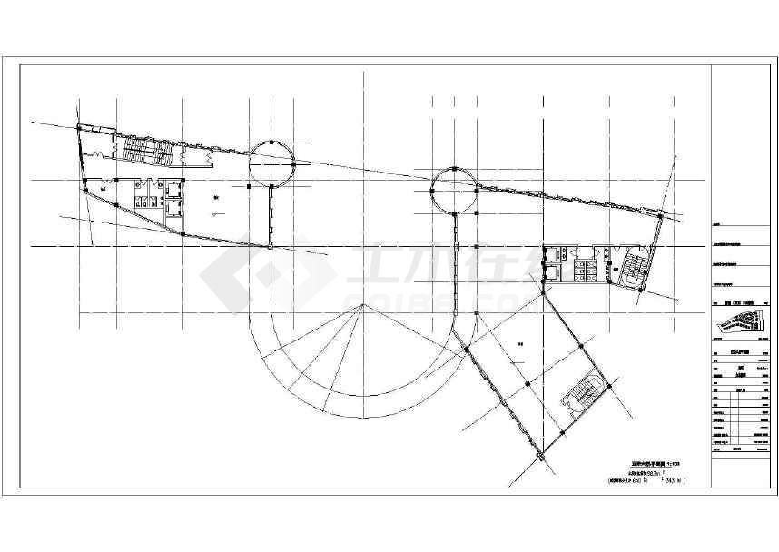 【浙江】欧式风格超高层商业建筑施工图(含效果图)图片