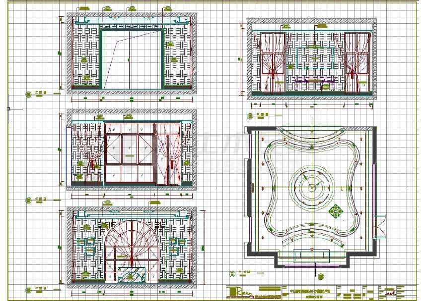 名师设计现代两层中山远洋城别墅c2户型全套室内精装修施工图(附效果