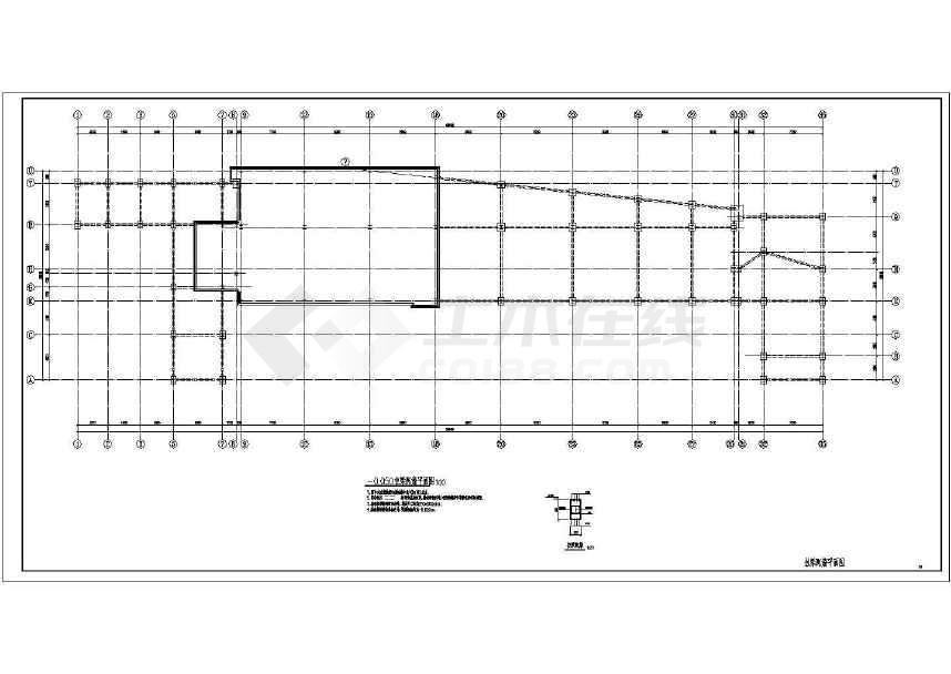 三层钢框架结构宾馆结构施工图(含建施)