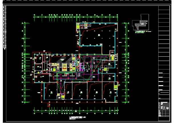 内容包括:弱电施工说明,电路控制系统图,弱电平面图,消防平面