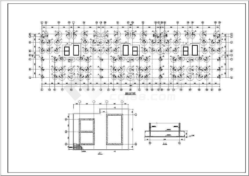 18层框剪结构高层住宅结构施工图(墩基础)