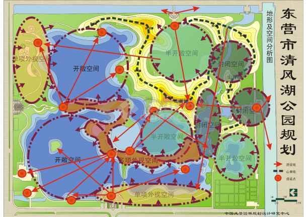山东东营某公园景观规划方案包括地形及空间