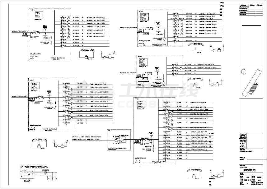 【广东】大型火车站强弱电设计施工图纸