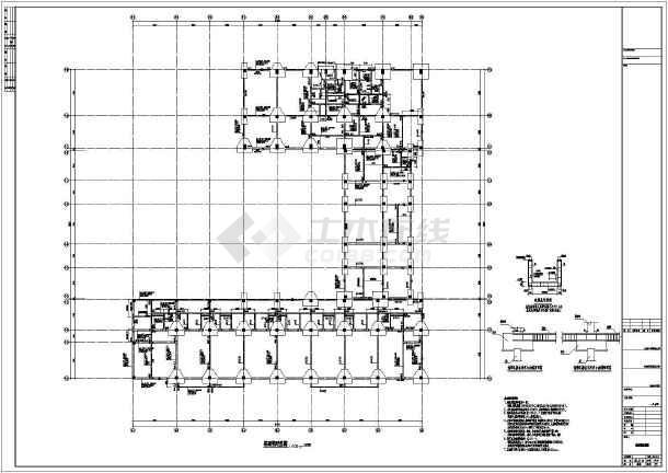 【厦门】三层框架结构幼儿园结构施工图