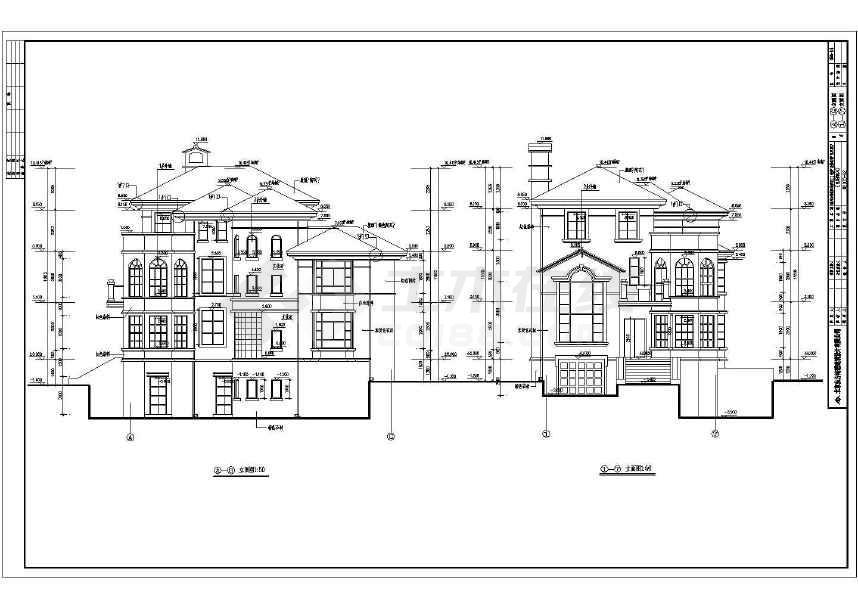 某砖混结构三层独栋别墅建筑施工图-图3