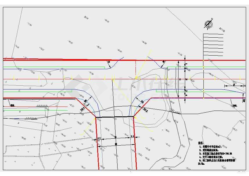 给水囹�_市政道路管网工程设计图(给水雨污水热力管 路灯绿化)