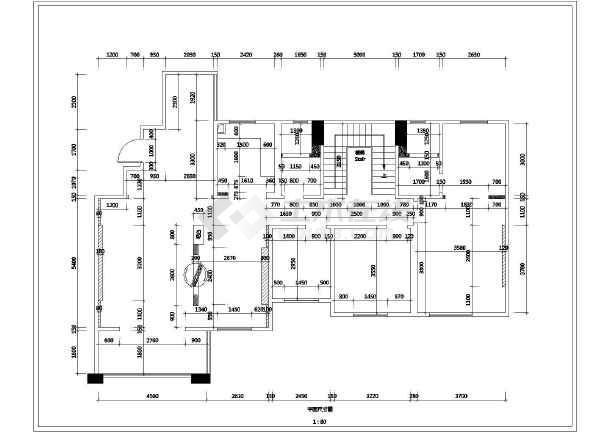 简欧风格别墅室内装修施工图     包括:原始结构图,平面布置图,拆墙图