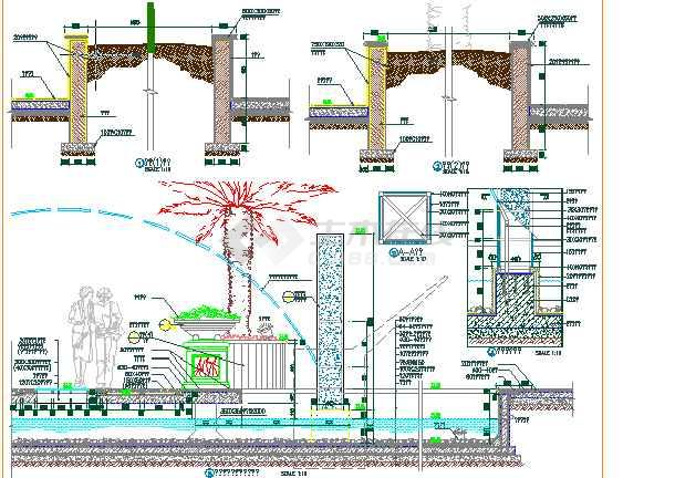 【上海】某高档会所景观绿化设计施工图