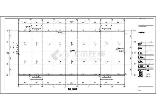 【江苏】框排架研发车间结构施工图(含建筑)