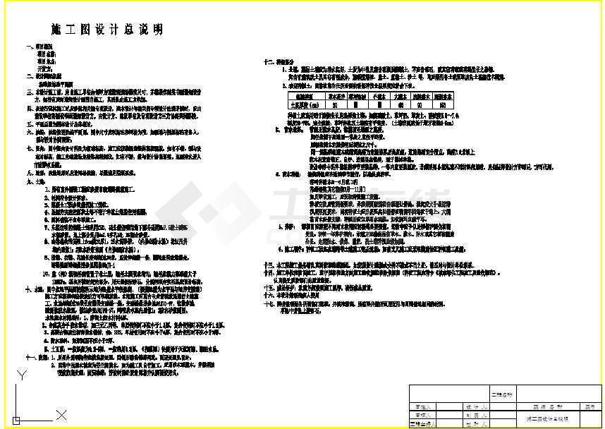 [河南]湖畔生态豪宅售楼处园林设计施工图 目录:施工图设计说明,总