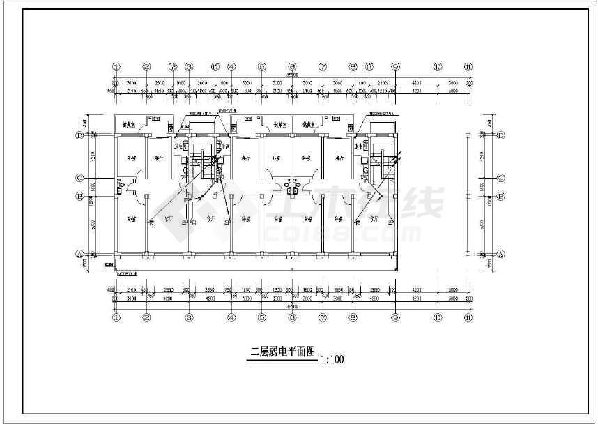 【淮安】某六层住宅楼电气设计图纸
