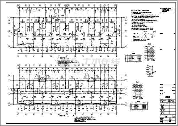 【常州】五层框架结构住宅楼施工图