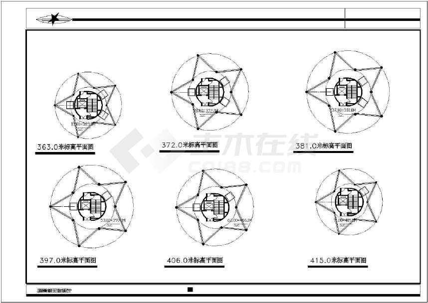 【重庆】中国古代建筑观光塔建筑设计施工图纸