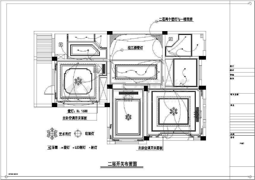 【江苏】现代奢华效果室内装修施工图(含别墅重别墅装图片