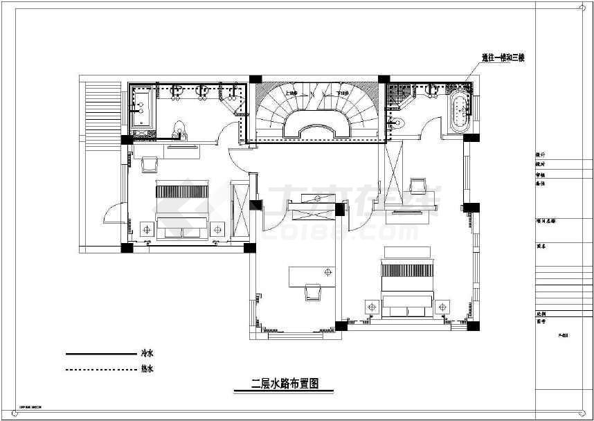 【江苏】现代奢华别墅室内装修施工图(含效果小别墅江南图片